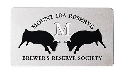 Brewer's Reserve Society Card